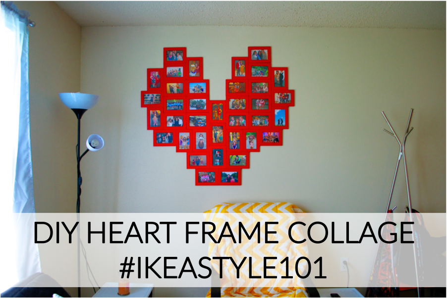 diy heart frame collage  ikeastyle101